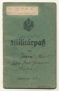 Militärpaß - EB Jäger Btl.7 + EB IR 144 + IR 193 Kriegsteilnehmer Aisne Schlacht