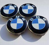 4x BMW ALLOY WHEEL CENTRE HUB CAPS 68mm E30 E36 E46 E92 1 3 5 6 7 X5 X6 M3 Z4