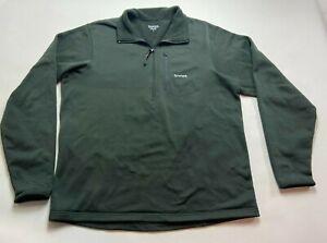 SIMMS Fishing Windstopper Fleece Mens green quarter Zip Jacket Great Shape Sz L