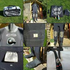 *Used* Lovely Mens Neoprene Drysuit▪OTHREE▪MSF 500~Med/Large~Bag Hood Change Mat