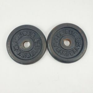 """Weider Set Of Two 5 Lb Weight Plates Standard 1"""""""