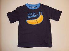 New Gymboree Go Bananas Slub Tee Top 12-18m NWT Stripes in Space Shirt Blue Boys