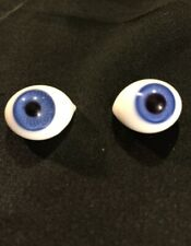50-TINY VINTAGE 3 TO 6 MM BLUE OVAL GLASS EYES FOR SMALL BISQUE DOLLS