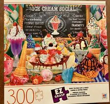 "Milton Bradley Puzzle EZ-GRASP 300 Piece ""Ice Cream Social"" Puzzle COMPLETE"