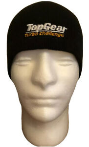 BBC TOP GEAR TURBO CHALLENGE BEANIE / HAT IN BLACK ONE SIZE BRAND NEW