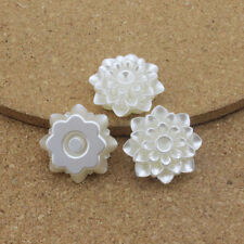 20pcs/lot 21mm ScrapBooking Flatback ABS Pearl Beads White Flower Jewelry Making