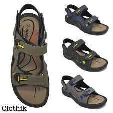 SANDALI UOMO regolabili ecopelle comfort ciabatte pantofole scarpe jomix