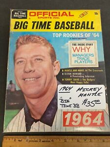 1964 VOL 1 #1 *BIG TIME BASEBALL* MAG *MICKEY MANTLE* COVER NEWSSTAND (MS) 91021