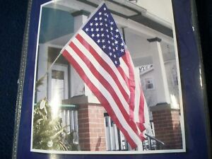 """UNITED STATES FLAG SET 5"""" GOLD EAGLE Valley Forge 3' x 5' Flag Set Made in U.S.A"""