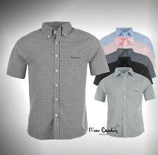 Pierre Cardin Short Sleeve Shirt Mens   S M L XL XXL XXXL 4XL