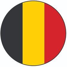 "Belgium Flag - Cake Topper 8"" 20cm Circle Icing Decoration Party Celebration"