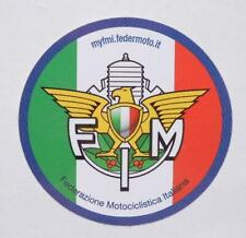 "Italian race sanction sticker decal 2"" diameter official FIM moto club Italy"