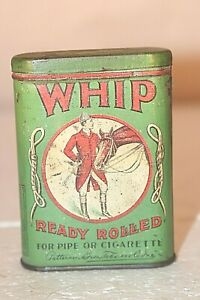 Rare Whip Ready Rolled Tobacco Pocket Tin Patterson Bros Tobacco Co Richmond VA
