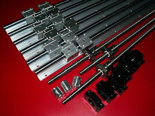 3 set SBR16 linear rail+ballscrew RM1605-350/900/1150mm+BK/BF12 end bearing CNC