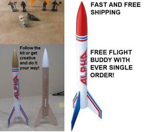 Estes Flying Model Rocket Kit Alpha 1225 single Kit Original New Red White Blue