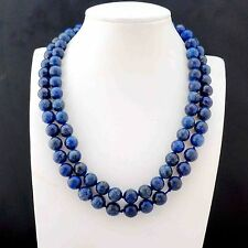 new Natural 10mm Lapis Lazuli Round Beads Necklace 36''AAA