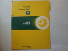 John Deere 165 Backhoe For 170 Skid-Steer Loader Parts Catalog Pc-1374 Deere 165
