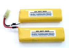 9.6V 1400MA Fit TM M4A1 M733 MP5A5 MP5SD6 177E2 Airsoft