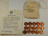 1973 PDS souvenir Mint Visit Penny Bag 5P 5D 5S US Mint Cents 15 Coins Total