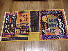 Halloween treat bags and door banner Debbie Mumm easy to sew fabric panel