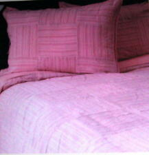 PINK LINEN Patchwork LIZ CLAIBORNE Cotton Twin DUVET/SHAM Set~NIP~Machine Wash