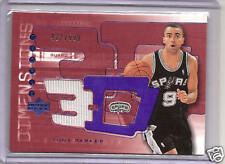 2003-2004 Triple Dimensions Basketball Tony Parker 3D Spurs Warm Up Card 422/999