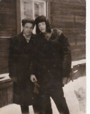 1960s Handsome young boys in winter coats gay interest old Russian Soviet photo