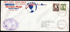 CANADA AUSTRALIA 1955 FIRST POLAR ROUTE FLIGHT ON CANADIAN PACIFIC AIRLINES