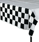 RACING PARTY - CHEQUERED FLAG Tablecover / Plastic tablecloth