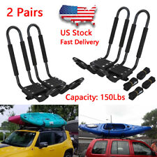 Pairs Universal Kayak J-bar 2 Roof Rack Boat Canoe Top Mount Carrier SUV Van Car