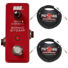 "BBE MS 92 Mini Sonic Stomp Maximizer Guitar Pedal, PigHog PH10 10' 1/4"" Cables"