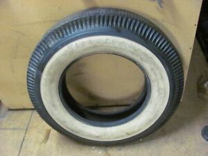 NOS Firestone Deluxe Champion 6.70-15 Wide White Tire Early DOT? 67 68?