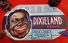 US GENUINE CRATE BOX JAR LABEL DIXIELAND BRAND CHRISTIAN & COCKRILL