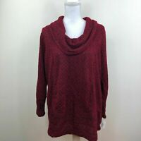 Style & Co. Womens Shawl Collar Sweater Jacquard Red Plus Size Variety