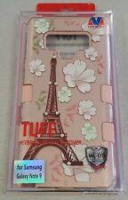 Samsung Galaxy Note9 Pink Paris Designer TUFF Hybrid Protective Case - #17G