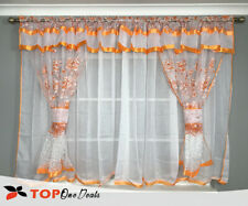 Top Quality Net & Voile Curtains Ready Made Floral Tape Top Luxury *All Colours*