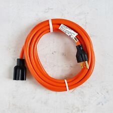 15' 16 Gauge Light Duty Orange Indoor/Outdoor Extension Cord - MADE IN USA