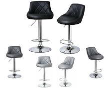 2X Bar Stools PU Leather Swivel Gas Lift Chair Kitchen Breakfast Pub Black,Grey