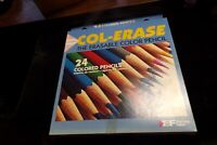 Set of 24 Vintage Eberhard Faber Col-Erase Colored Pencils Erasable New NOS