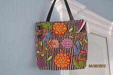 Jenny Krauss Handmade Stripe/Floral Wool Bag