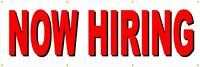 Now Hiring Business 13 Oz Vinyl Banner Sign With Grommets-nhb1