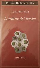 L'ordine del tempo (carlo Rovelli) | Adelphi