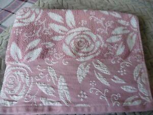 Dunelm Bath Towel Pink Nude Floral