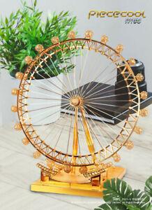 London Eye - Gold 3D Metal Puzzle Model Kits Assemble Jigsaw Toys
