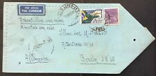 Brazil 1936. Air mail Zeppelin sample without value to Germany. Scarse.