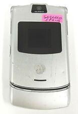 Motorola Razr V3 - Silver ( Cingular / At&T ) Cellular Flip Phone - Read