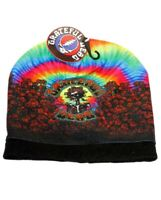 New Bertha Hat Grateful Dead Skeleton Roses Tie Dye Adult Beanie Winter Soft NWT