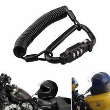 Motorcycle Scooter Helmet Lock & Cable Combination PIN Locking Carabiner Device