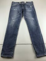 AG Adriano Goldschmied $225 The Stilt Cigarette Leg distressed jeans 30R