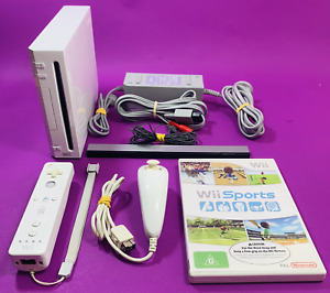 Nintendo Wii Console w/Controller, Cords & Wii Sports - PAL *Complete*